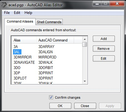 AutoCAD Command Aliases - CadOasis
